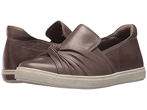 Rockport Cobb LeatherGrey Black Willa On Leather Collection Slip Cobb Hill Hill Bow rr1vwd