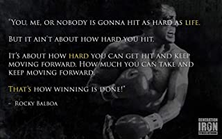 Rocky Balboa (Quotes 2) Poster 12 x 15 ""