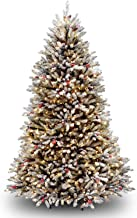 National Tree Company Pre-lit Artificial Christmas Tree | Includes Pre-Strung White Lights and Stand | Flocked with Pine C...