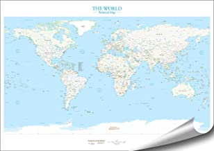 ARTBAY EL Mundo - Mapa del Mundo político - Póster XXL - 118,8 x 84 cm | Mapa del Mundo político Muy preciso y detallado | 1:35.000.000 | En inglés