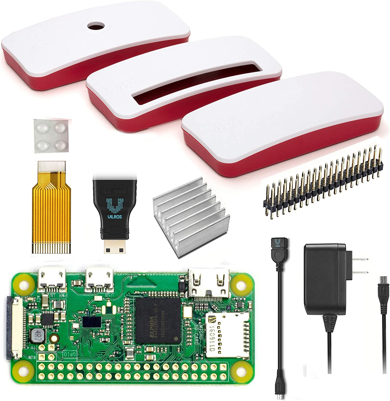 Vilros Raspberry Pi Zero W Basic Starter Kit Mit Offizieller Gehäuse Netzteil Und Mehr Amazon De Computer Zubehör