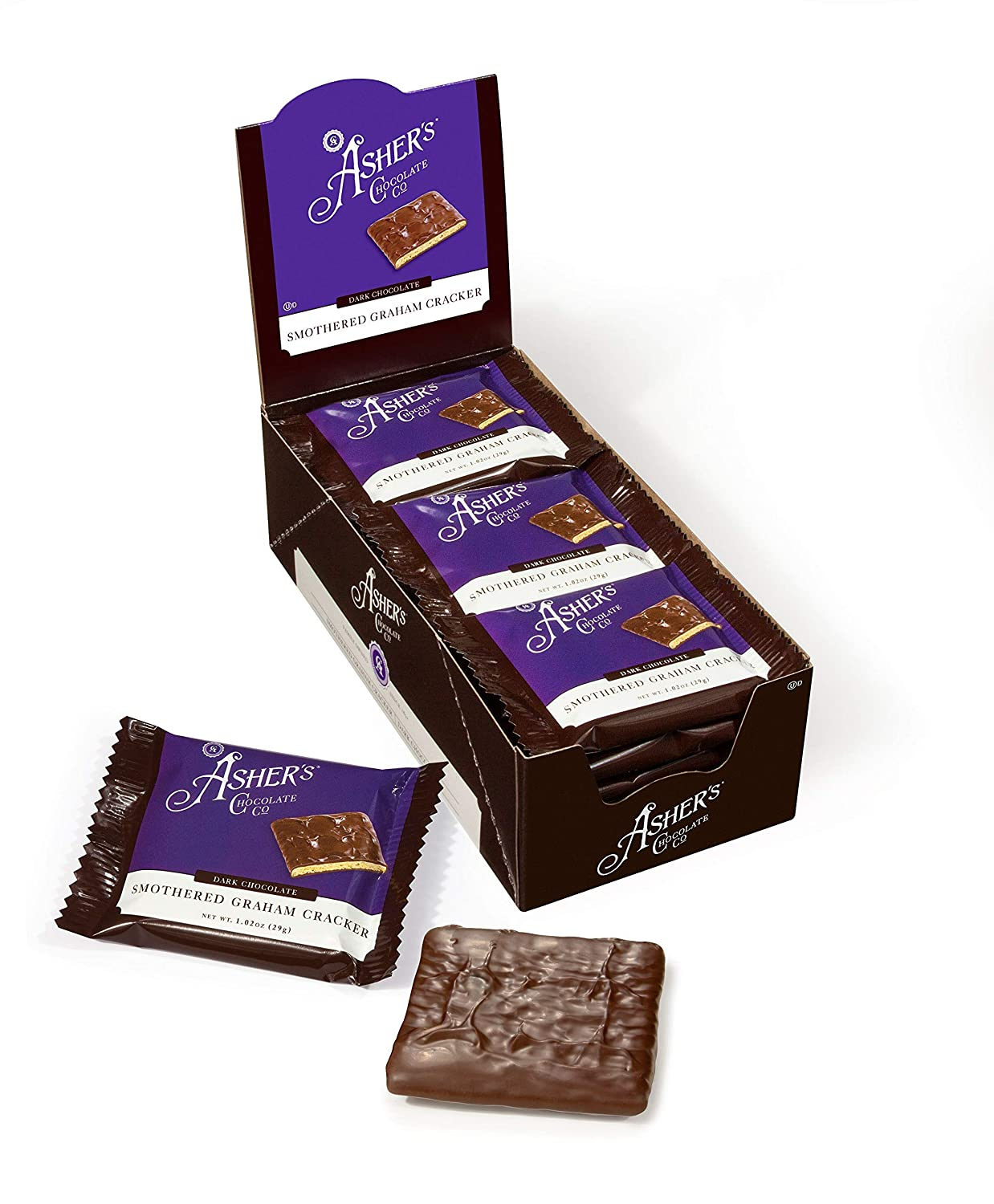 Asher's Chocolates Gourmet Chocolate Graham Covered Spring new work Max 48% OFF S Crackers