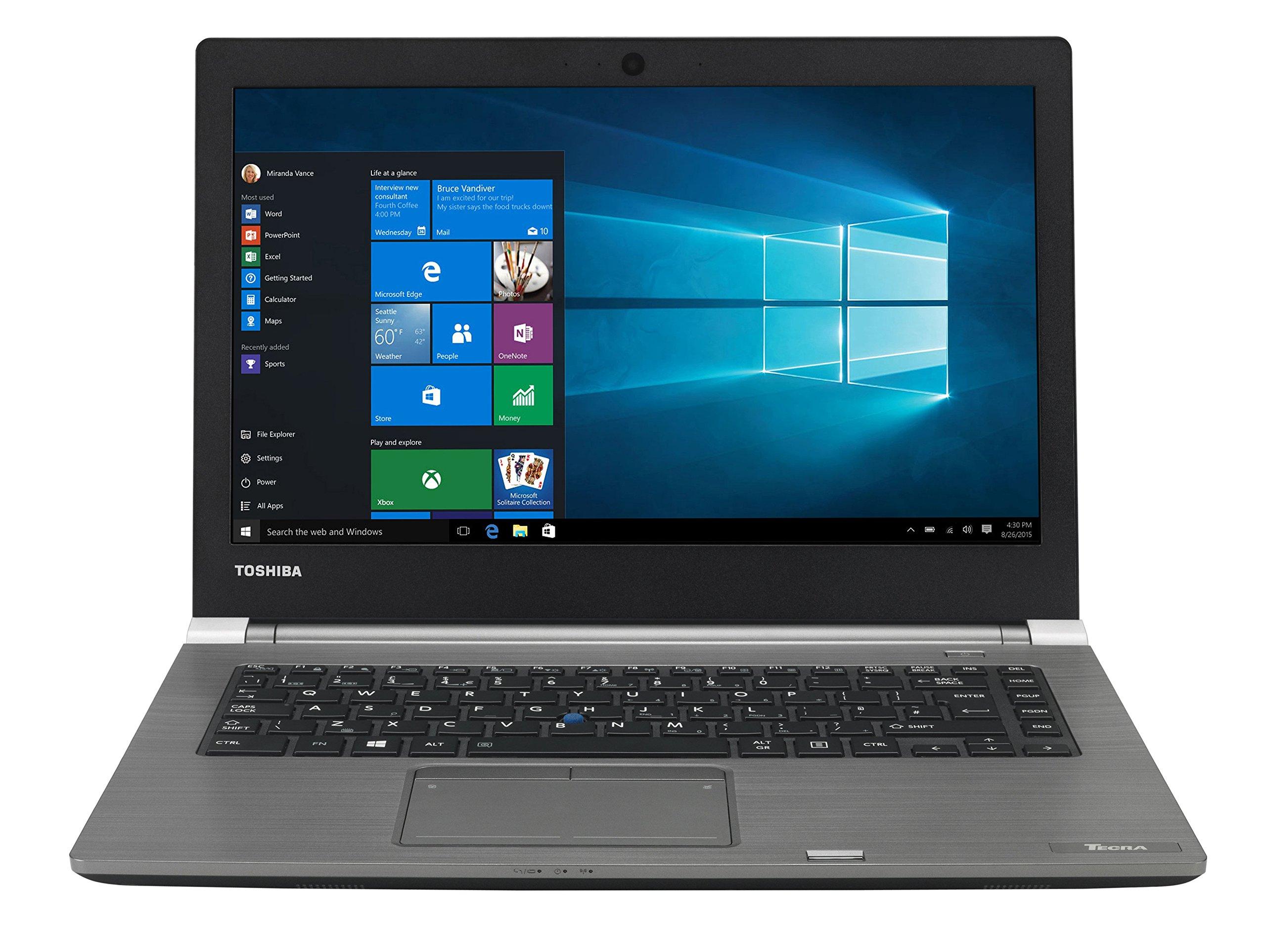 東芝PS463E-028005GR 35.56 cm(14インチ)A40-C-17Cラップトップ(Intel Core i5、8GB RAM、Win 10ブラック