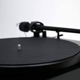 Premium Swiss Leather Turntable Mat | Black | Platter Mat Made in USA