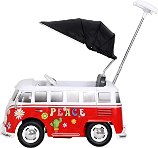 Rollplay 49313 VW Bus T1 Flower Power Push Car, red