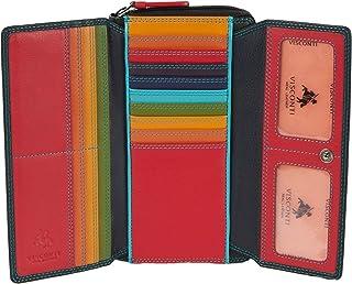 """Visconti portafoglio di pelle da donna""""Rainbow"""" multicolore XL Purse (RB78): (Nero Multi (Black multi))"""