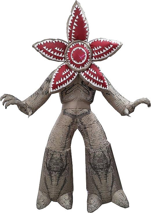 Morbid Forum Stranger Things - Demogorgon inflable, gigante, exhibición de patio con amarres y estacas, mide 7 pies de alto