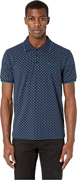 Arrow Print Pique Polo