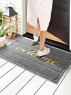 """Wohous Front Door Mat Indoor Outdoor Welcome Mat for Entrance 35"""" x 23.5"""", Low Profile Floor Mat Home Door mats Rubber Doo..."""