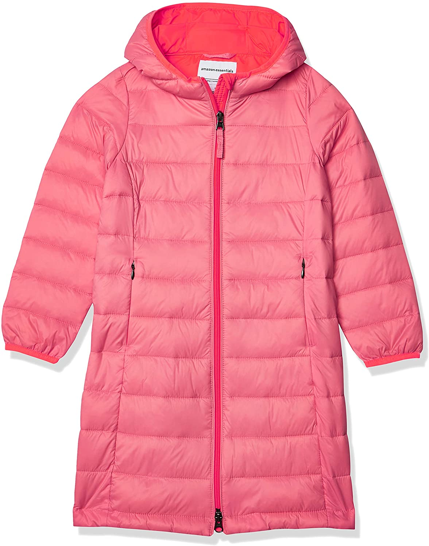 Amazon Essentials Girls Long 35% OFF Puffer Light-Weight Hooded Oakland Mall