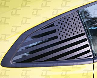 Camaro 6th GEN American Flag Rear Quarter Window Accent Decal Kit (2016-2019) (Flat Back)