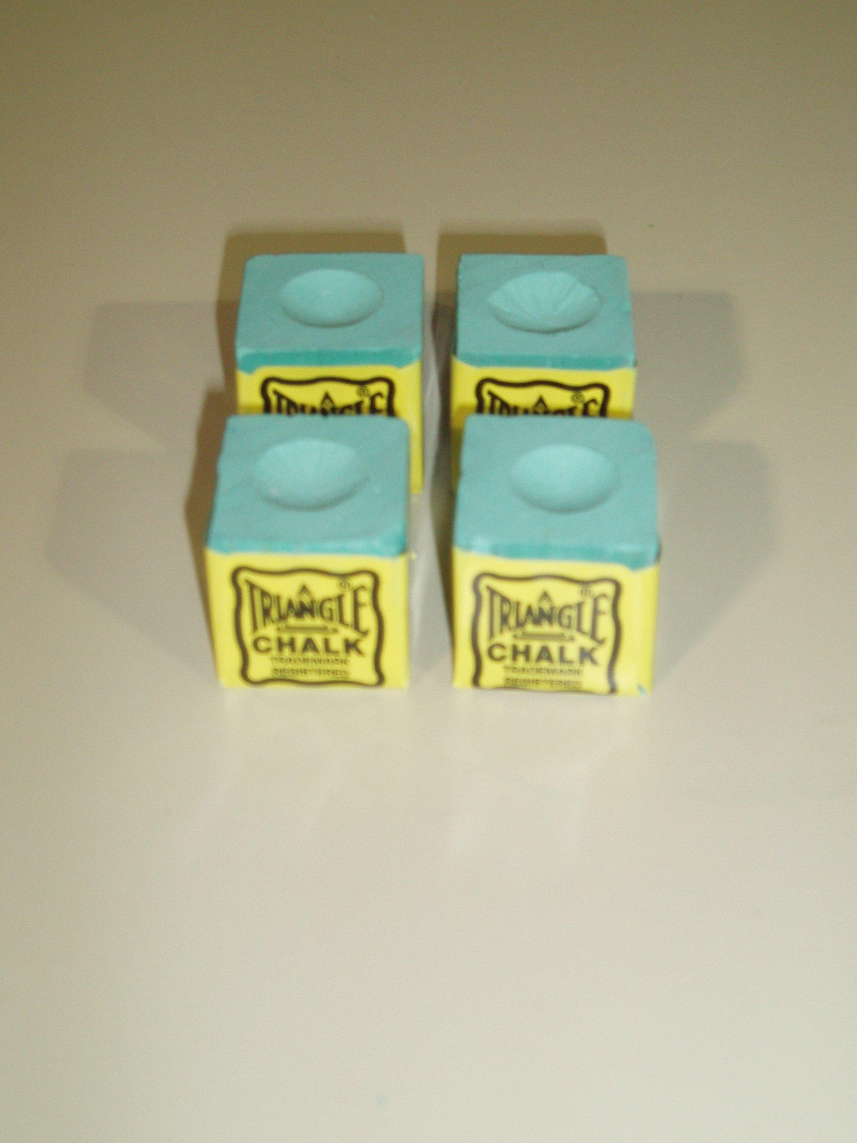 TRIANGLE - Lote de tizas para tacos de billar (4 unidades), color ...