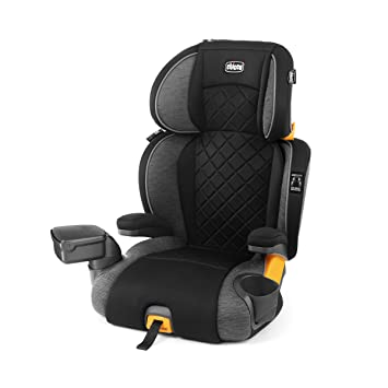 Chicco KidFit Zip Plus 2-in-1 Belt Positioning Booster Car Seat - Taurus, Black/Grey: image
