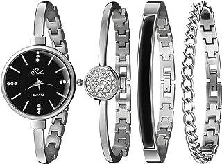 Outlier Watch & Bracelet Set for Women - Stunning Bangle, Cuff & Chain Bracelet Jewelry in a Sleek Gift Box