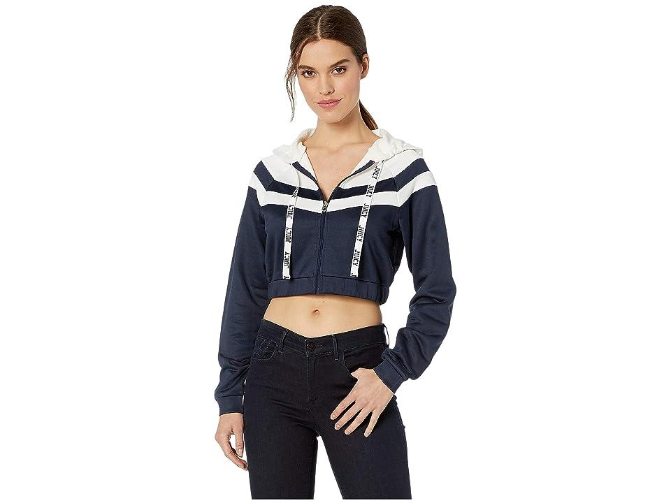 Juicy Couture Color Block Tricot Jacket (Regal/Bleached Bon) Women