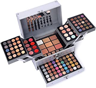 132 Color All In One Makeup Gift Set Kit- Includes 94 Eyeshadow, 12 Lip Gloss, 12 Concealer, 5...