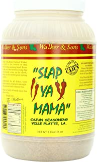 Slap Ya Mama All Natural Cajun Seasoning from Louisiana, Original Blend, MSG Free and Kosher, 8 Pound Restaurant Size Jar