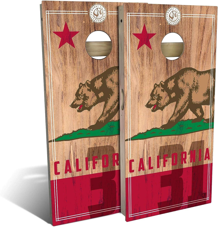 Skip's Max 84% OFF Garage Max 61% OFF California Flag 2.0 Cornhole - Set Board Yo Choose