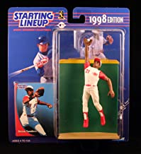 Starting Lineup Deion Sanders / Cincinnati Reds 1998 MLB Action Figure & Exclusive Collector Trading Card