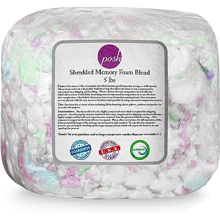 Posh Creations Foam Filling Bean Bag Refill, 5lbs, Multi-Color