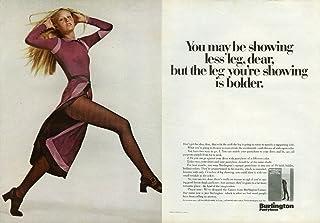You may be showing less leg but it's bolder Burlington Pantyhose ad 1970