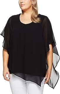 My Size Women's Plus Size Celestial Floaty Top, Black