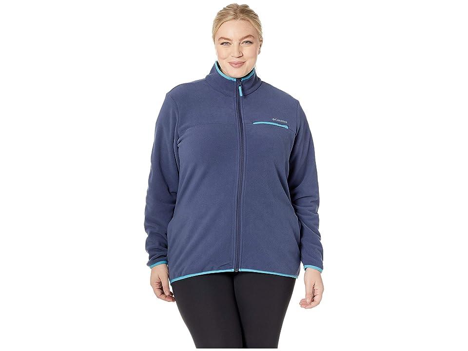 Columbia Plus Size Mountain Crest Full Zip (Nocturnal/Beta) Women