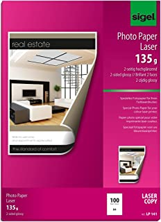 Sigel LP141 Photo Paper for Colour Laser/Copier, 2-sided glossy, 91.2 lbs, A4, 100 sheets