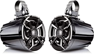 """NOAM N5 – Pair of 5.25"""" UTV/Golf Cart Marine Speakers with Passive Radiator.."""