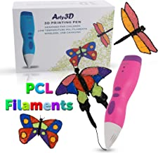 3D Printing Pen 3D Drawing Pen PCL Filaments Art and Craft Doodler Low Temperature Safe for Kids Modeling Pen Wireless USB Charging Clog Free Arty3D Pink