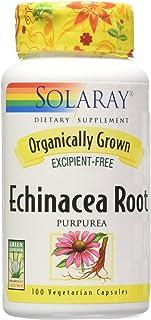 Solaray Organic Echinacea Purpurea Root Supplement, 450 mg, 100 Count
