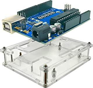 EEEEE UNO R3 ATMEGA328P ATMEGA16U2 & Acrylic Case Enclosure, (2 in 1), Clear Transparent Box with USB Cable Compatible wit...