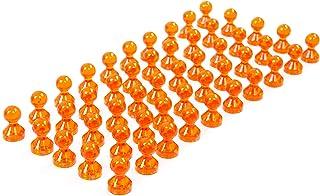 Transparente de pines Imán de neodimio/Push Pins para Whiteboard, frigorífico, color naranja 50er Pack