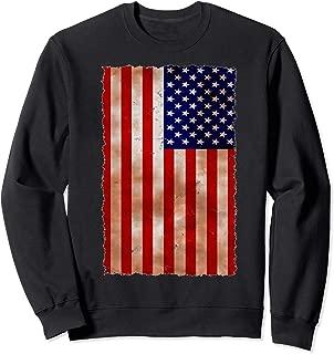 American Flag - Tattered Looking Flag Sweatshirt