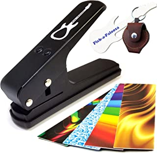Pick-a-PaloozaDIY Guitar Pick Punch - The Premium Guitar Pick Maker and a Leather Key Chain Pick Holder - Now You Can Make...