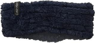 Calvin Klein Women's Knit Faux Fur Headband