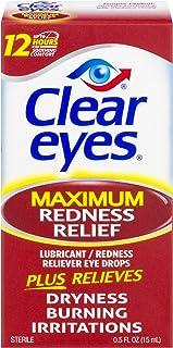 Clear Eyes | Maximum Redness Relief Eye Drops | 0.5 FL OZ