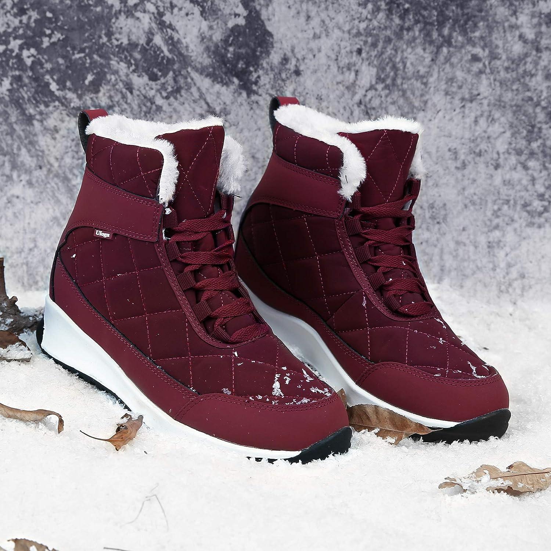 Scarpe Invernali Donna Foderato Caldo Stivali da Neve Antiscivolo Inverno Scarpe da Trekking Taglia 37-42