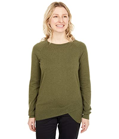 tentree Highline Cotton Acre Sweater (Olive Night Green) Women
