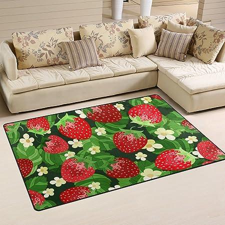 Amazon Com Ihappy Strawberry Anti Slip Washable Long Floor Carpet Kitchen Mat Rug 17x69 Inches Kitchen Dining