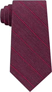 Calvin Klein Red Burgundy Merlot Striped Men's Neck Tie Silk