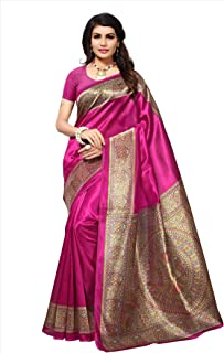 Winza Designer Women's Mysore Silk Saree With Blouse
