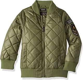 Boys' Little Diamond Quilted Bomber Jacket