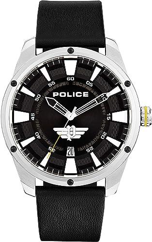 Orologio police  analogico quarzo uomo con cinturino in pelle 15413js/02