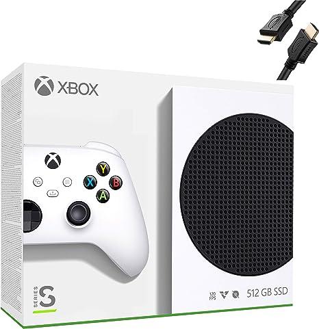 Игровая полностью цифровая консоль Microsoft Xbox Series S 512 ГБ PCIe SSD + 1 беспроводной контроллер Xbox, белый цвет - ОЗУ GDDR6 10 ГБ, игры 1440p, воспроизведение потокового мультимедиа 4K, Wi-Fi - Кабель HDMI iPuzzle