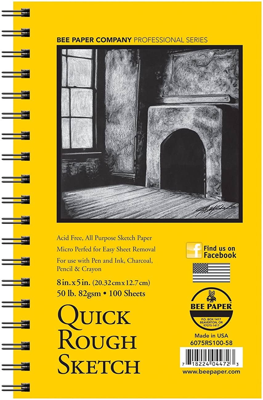 Bee Paper Quick Rough Sketch Pad, 5-Inch by 8-Inch (6075RS100-58)