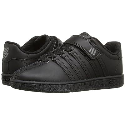 K-Swiss Classic VN VLCtm (Little Kid) (Black/Black Leather) Shoes