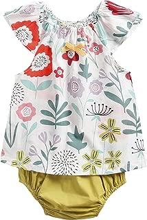 Sanlutoz B/éb/é Filles Floral sans Manches Barboteuse Fleur Impression Coton Nouveau n/ée Filles Bodys