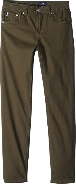 AG Adriano Goldschmied Kids The Stryker Luxe Slim Straight Sueded Twill in Green Flash (Big Kids)