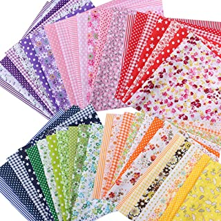 DIANXIN 49枚 はぎれセット はぎれ 綿 生地 コットン100% カットクロス 手芸用 花柄 DIY 手作り(25x 25cm)